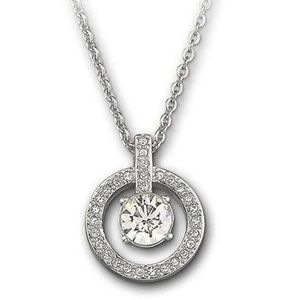 Swarovski Chaton Circle Pendant Necklace